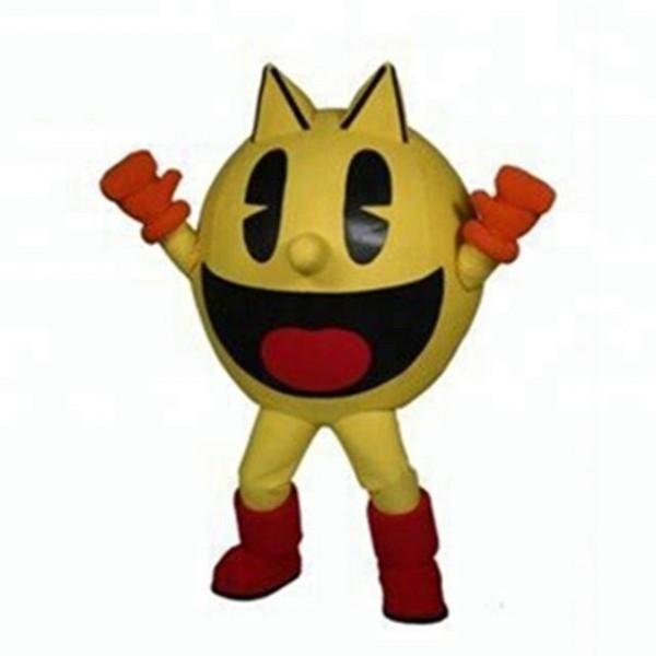 Cartoon Yellow Round Ball Pacman Mascot Costume
