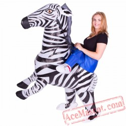 Adult Blow Up / Inflatable Zebra Costume