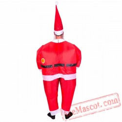 Adult Blow Up / Inflatable Santa Costume