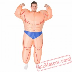 Adult Blow Up / Inflatable Muscleman Costume