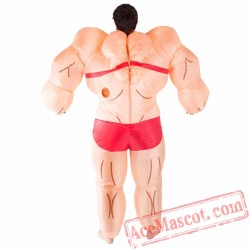 Adult Blow Up / Inflatable Musclewoman Costume