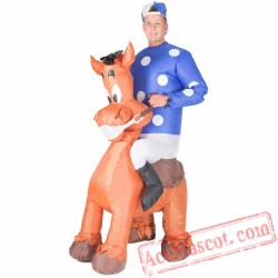 Adult Blow Up / Inflatable Jockey Costume