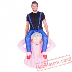 Adult Blow Up / Inflatable Grandma Costume