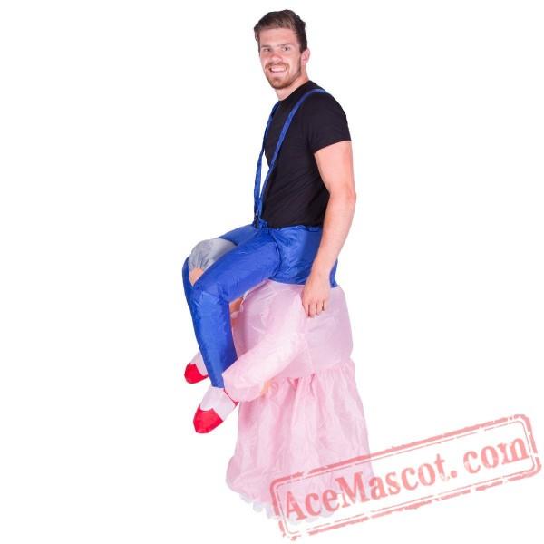 Adult Blow Up / Inflatable Grandma Costume