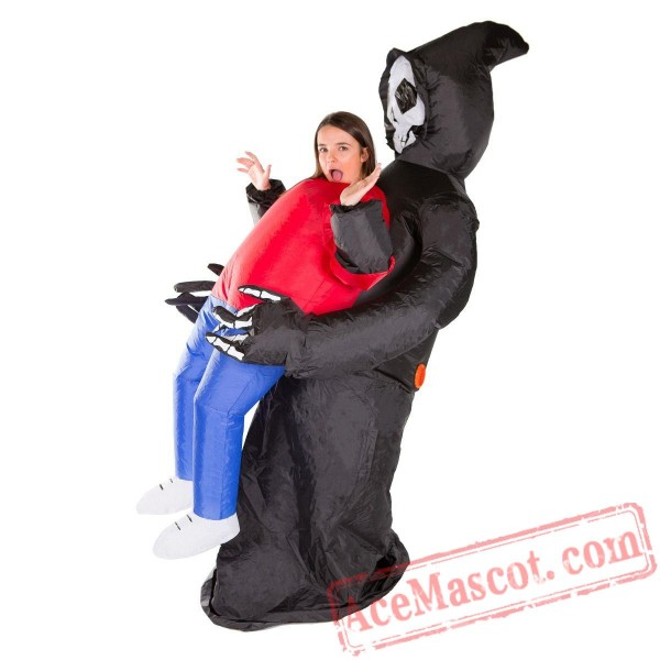 Adult Blow Up / Inflatable Grim Reaper Costume