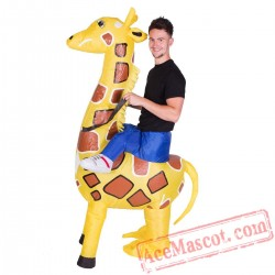 Adult Blow Up / Inflatable Giraffe Costume