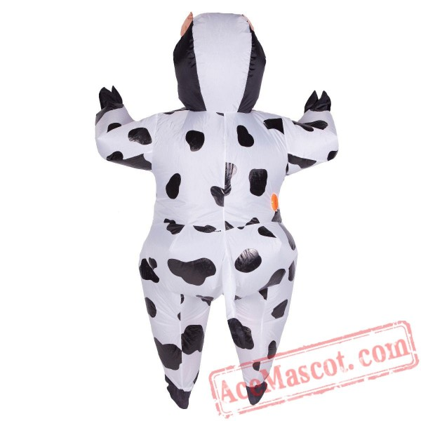 Adult Blow Up / Inflatable Cow Costume