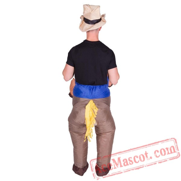 Adult Blow Up / Inflatable Cowboy Costume