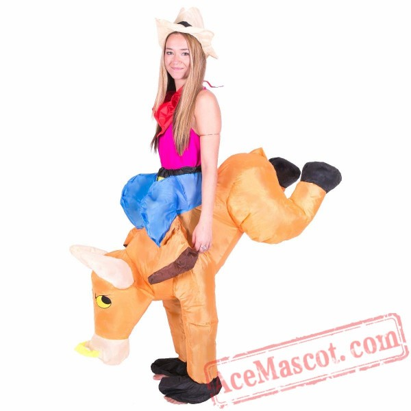 Adult Blow Up / Inflatable Bull Costume