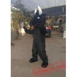 Black Bull Cattle Mascot Costume