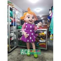 Yoyo Girl Mascot Costume Cocomelon Character