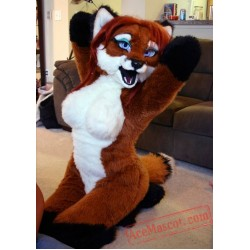Sexy Fox Fursuit Costumes Animal Mascot for Adults