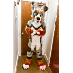 Husky Dog Wolf Fursuit Costumes Animal Mascot for Adults