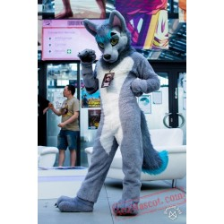 Wolf Fursuit Costumes Animal Mascot for Adults