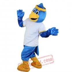 Sport Blue Eagle Mascot Costume for Adult