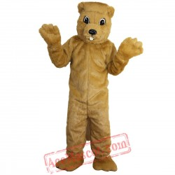 Yellow Groundhog Gophers Mascot Costume for Adult