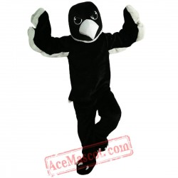 Black White Eagle Mascot Costume for Adult