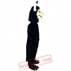 Black Cow Mascot Costume for Adult