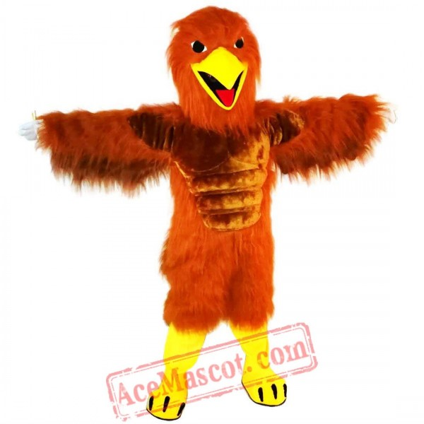 Red Brown Eagle Mascot Costume for Adult
