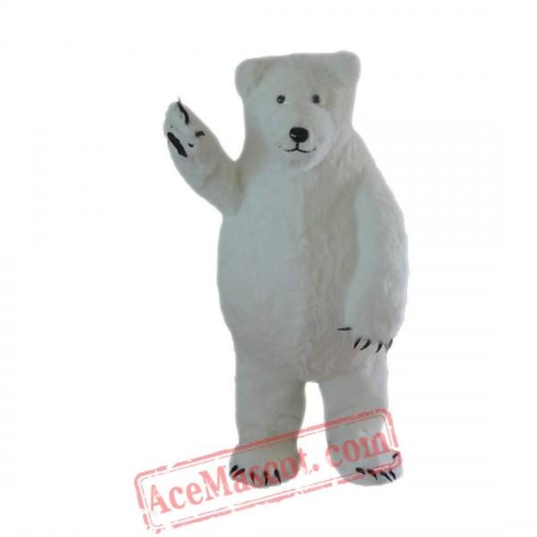 White Polar Bear Mascot Costume for Adult