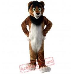 Brown Lion Mascot Costume