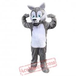Grey Wolf Timberjack Mascot Costume
