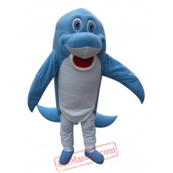 Blue Dolphin Mascot for Adult