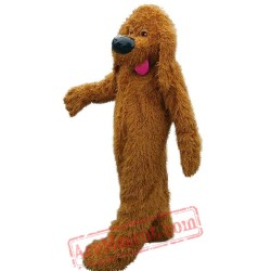 Brown Poodle Dog Mascot Costume