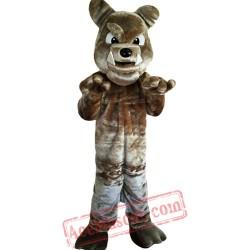 Gray Dog Mascot Costume