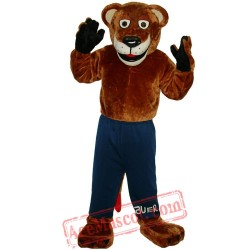 Brown Sport Tiger Mascot Costume