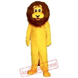 Yellow Lion Mascot Costume