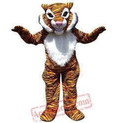 Yellow Tiger Mascot Costume