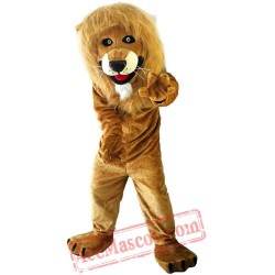 Brown Lion Mascot Costume