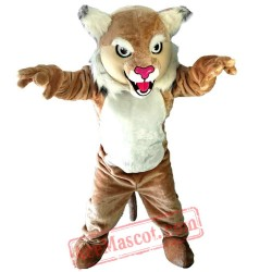 Halloween Brown Tiger Cat Mascot Costume