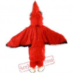 Halloween Red Eagle Bird Mascot Costume