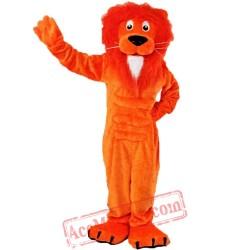 Orange Lion Mascot Costume