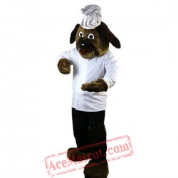 Brown Dog Mascot Costume for Adult