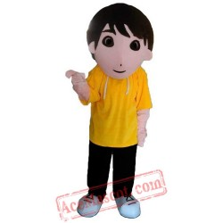 Yellow Boy Mascot Costume