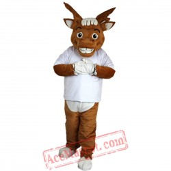Yellow Brown Elk Mascot Costume for Adult