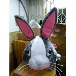 Gray Rabbit Mascot Costume