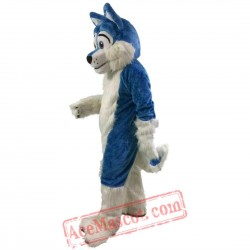Blue Wolf / Dog / Husky Mascot Costume