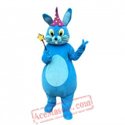Blue Magic Rabbit Mascot Costume for Adult