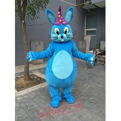 Blue Magic Rabbit Mascot Costume for Adult