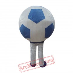 Blue And White Football Mascot Costume for Adult