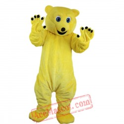 Yellow Bear Mascot Costume for Adult