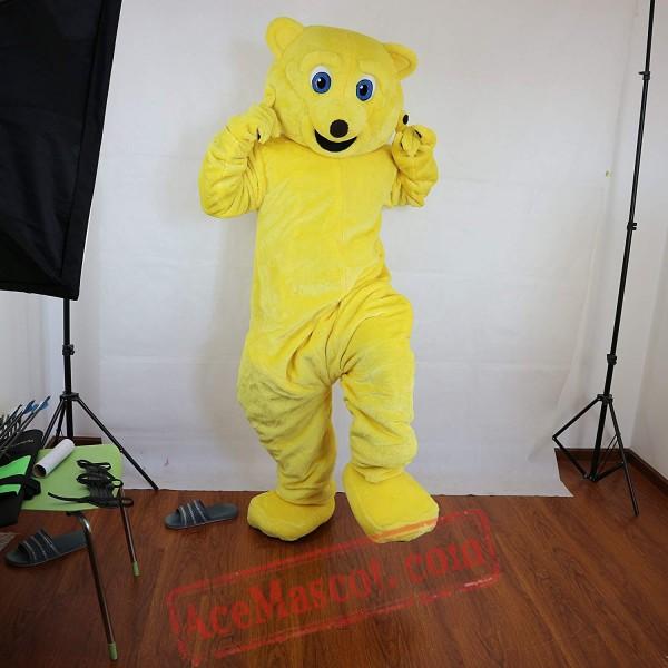 Yellow Bear Mascot Costume for Adult