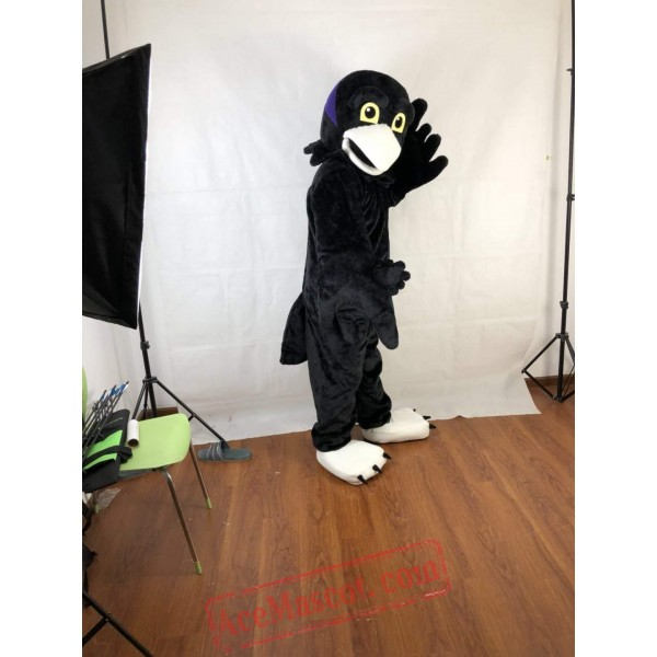 Black Short-Haired Eagle Mascot Costume for Adult