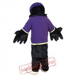 Purple Vest Sport Eagle Mascot Costume for Adult