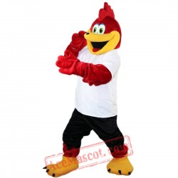 Red Sport Eagle Mascot Costume for Adult