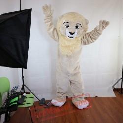 Beige Lion Mascot Costume for Adult